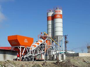 new Plusmix 100 m³/hour Mobile Concrete Batching Plant - BETONYY ZAVOD - CEN concrete plant